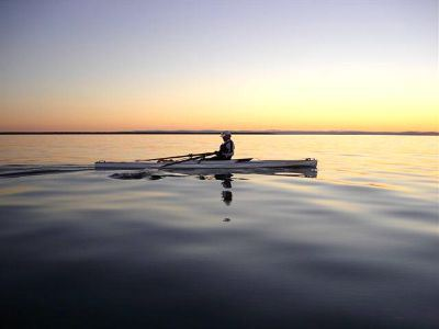 rowing at dawn