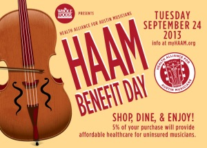 HAAM Benefit Day - 9/24/13