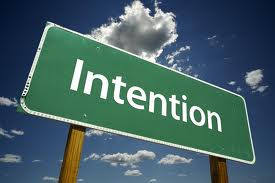 "Sign saying ""Intention"""